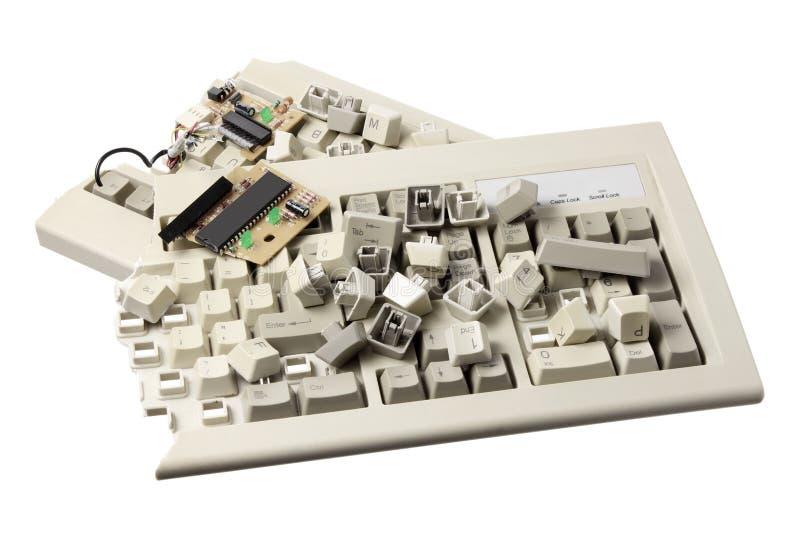 Broken Computer Keyboard stock illustration
