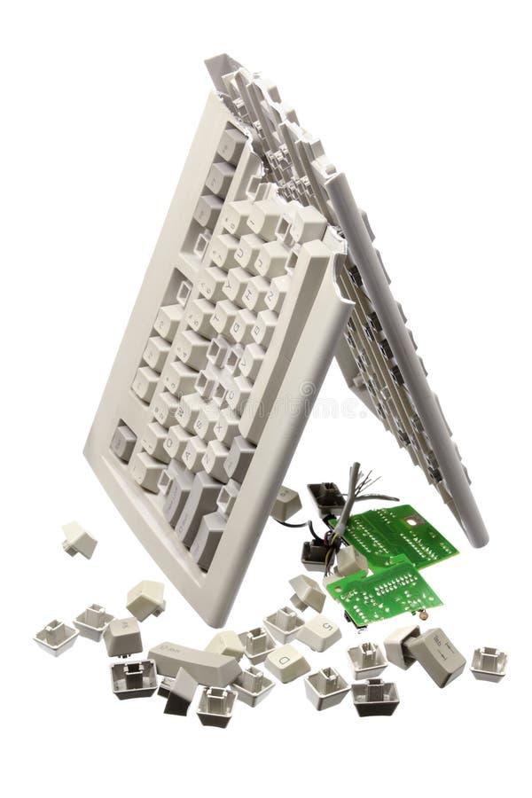 Broken Computer Keyboard royalty free illustration
