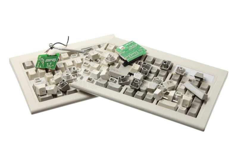 Broken Computer Keyboard vector illustration