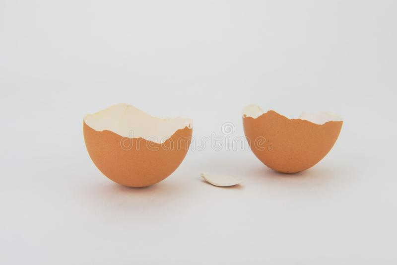 Broken and cracked egg royalty free stock photography