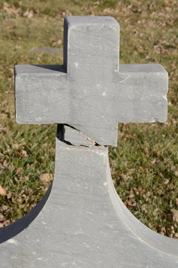 Broken cross royalty free stock photo