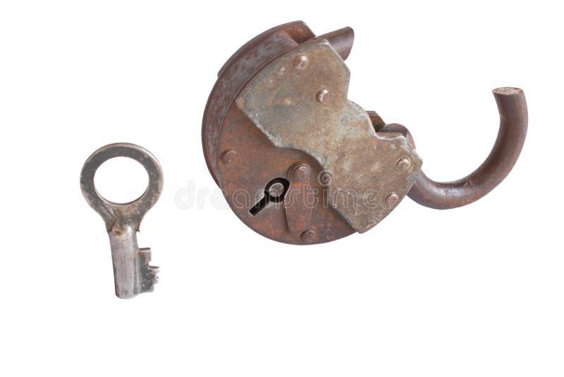 broken dörrlås arkivbild