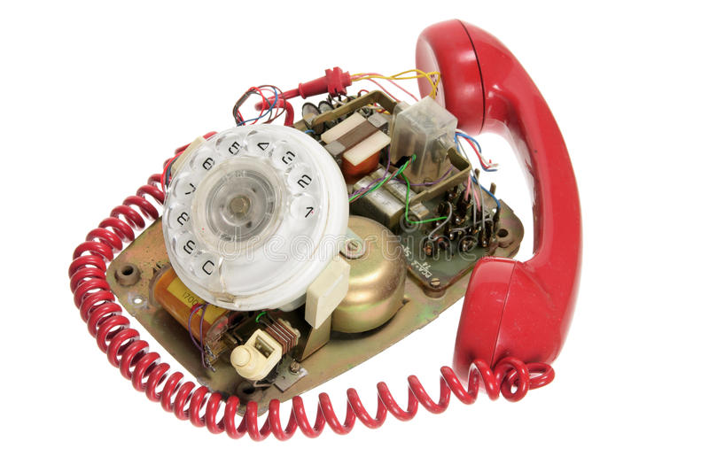 Download Broken Dial Phone stock image. Image of dial, white, isolated - 22369853
