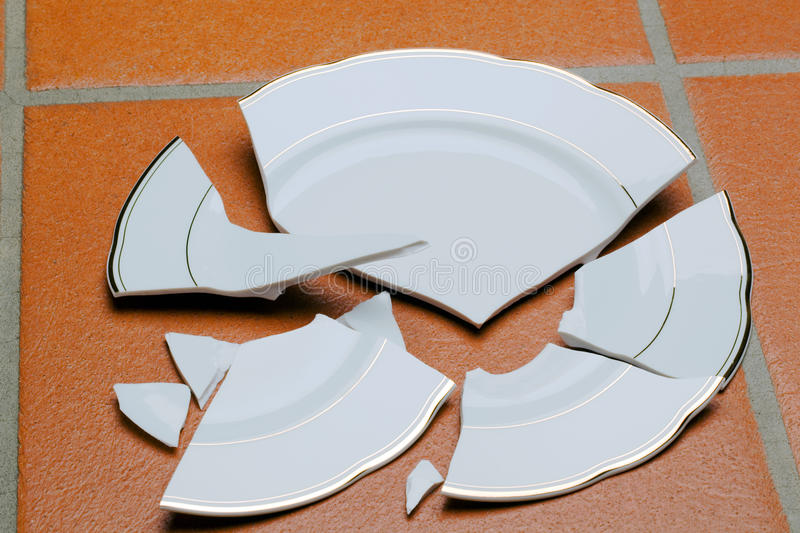 Broken dish stock photos