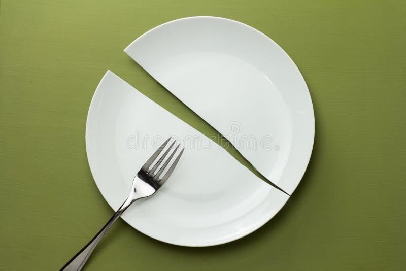 Broken Dish royalty free stock photography