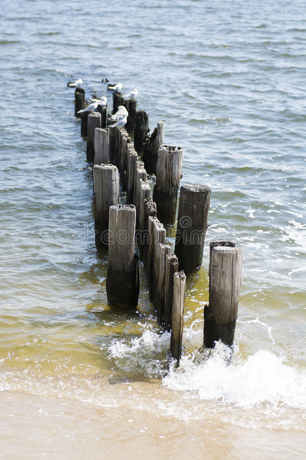 Broken dock royalty free stock photo