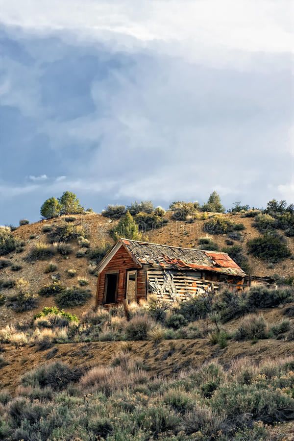 Broken Down Farm House Shed royalty free stock photos