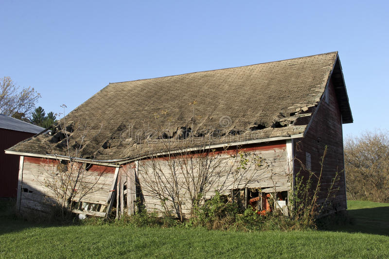 Broken down farm shed stock photography