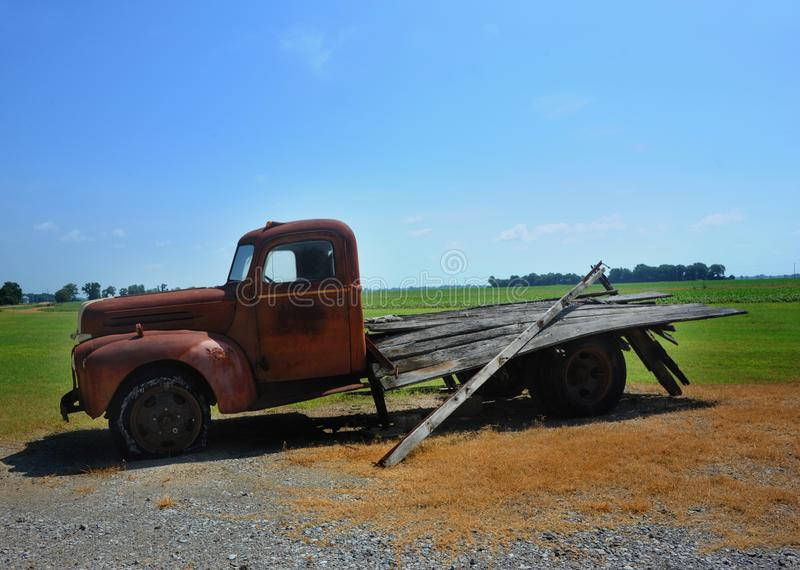 Broken Down Farm Truck stock photo