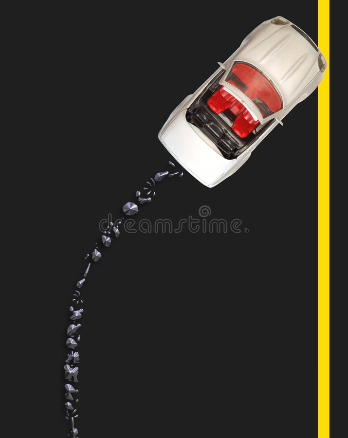 Download Broken Down With Oil Spill - American Road Stock Photo - Image: 1676766