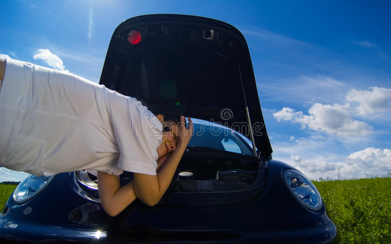 Download Broken Down Vehicle Royalty Free Stock Photo - Image: 1421855