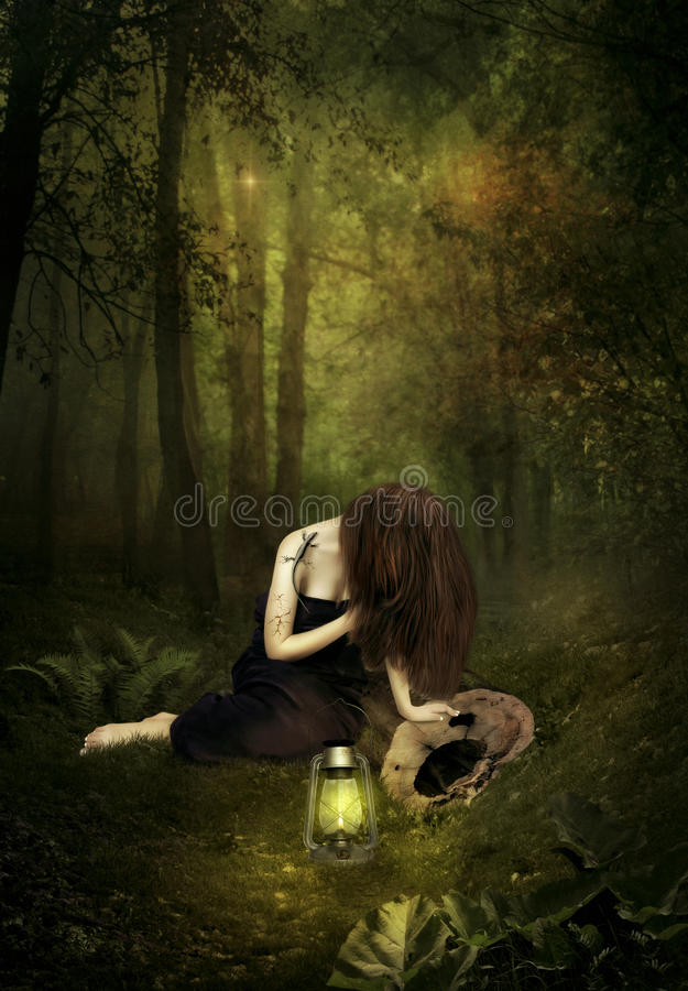 Download Broken dreams stock image. Image of young, night, light - 94837105