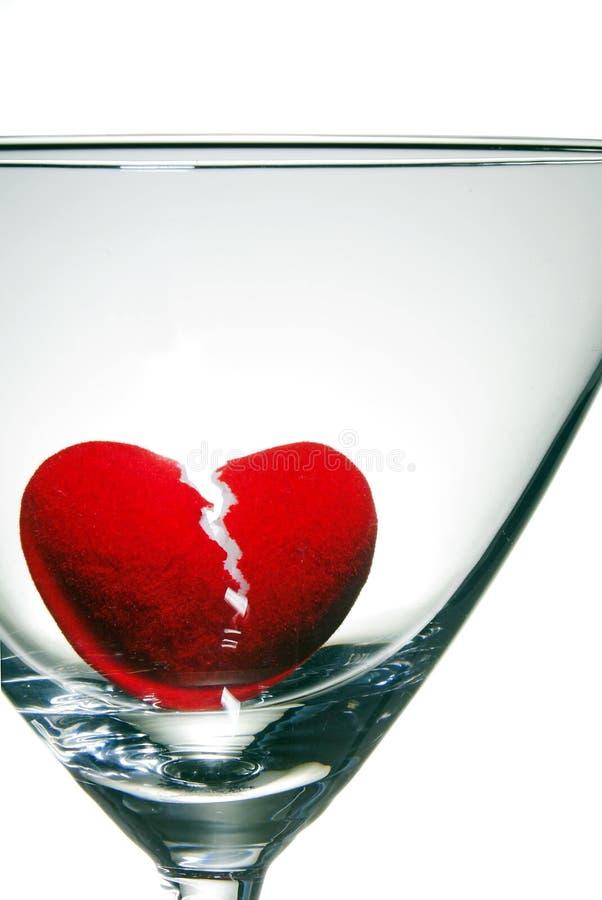 broken drunkninghjärta royaltyfri foto