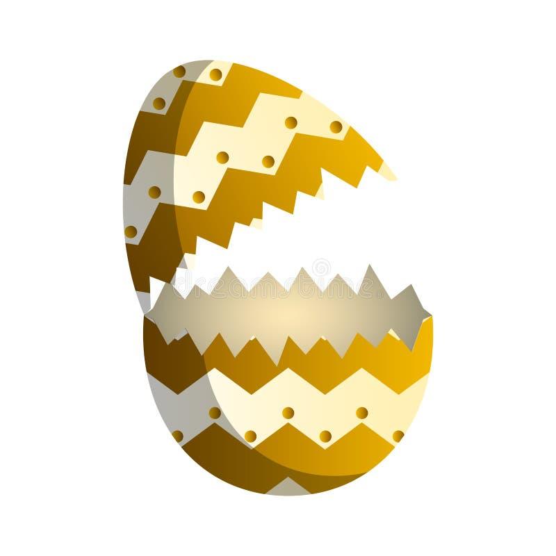 Broken easter egg. Image. Vector illustration design stock illustration