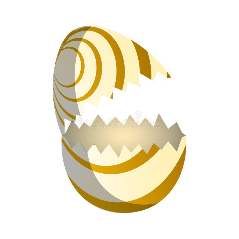Broken easter egg. Image. Vector illustration design royalty free illustration