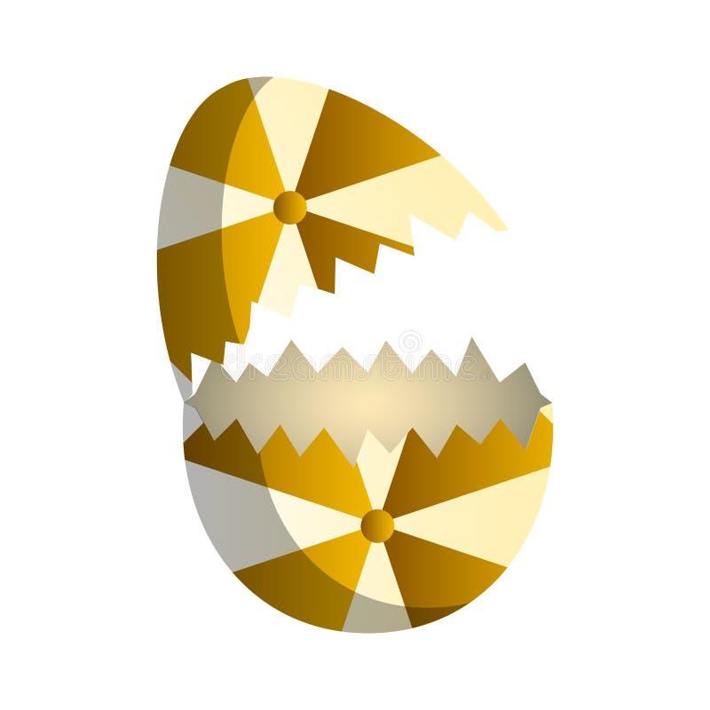 Broken easter egg. Image. Vector illustration design vector illustration