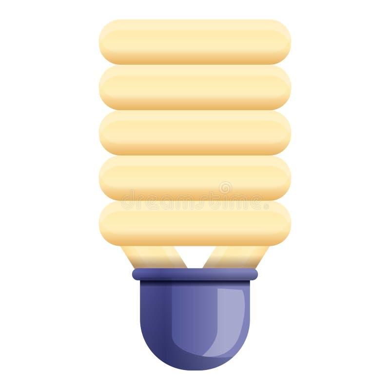 Broken eco bulb icon, cartoon style. Broken eco bulb icon. Cartoon of broken eco bulb vector icon for web design isolated on white background vector illustration