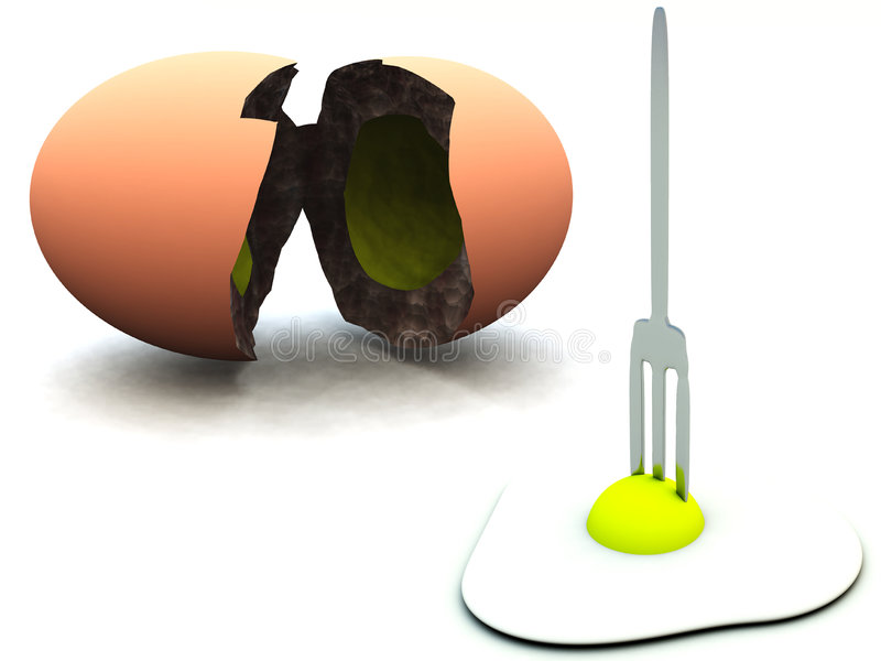 Broken Egg 50 Royalty Free Stock Images