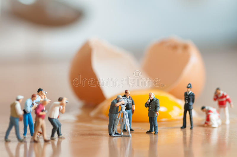 Broken egg. Accident in the kitchen royalty free stock images