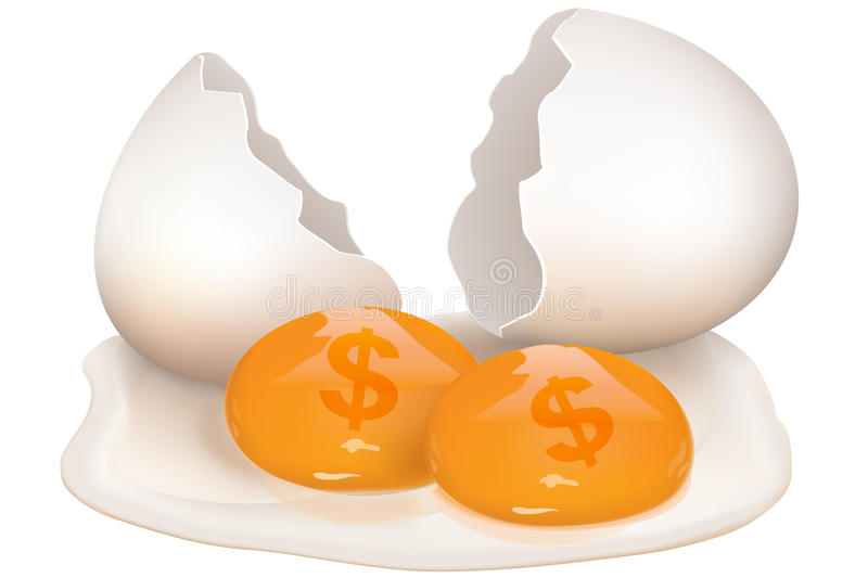 Download Broken Egg With Dollar Icon Stock Illustration - Illustration: 16951314