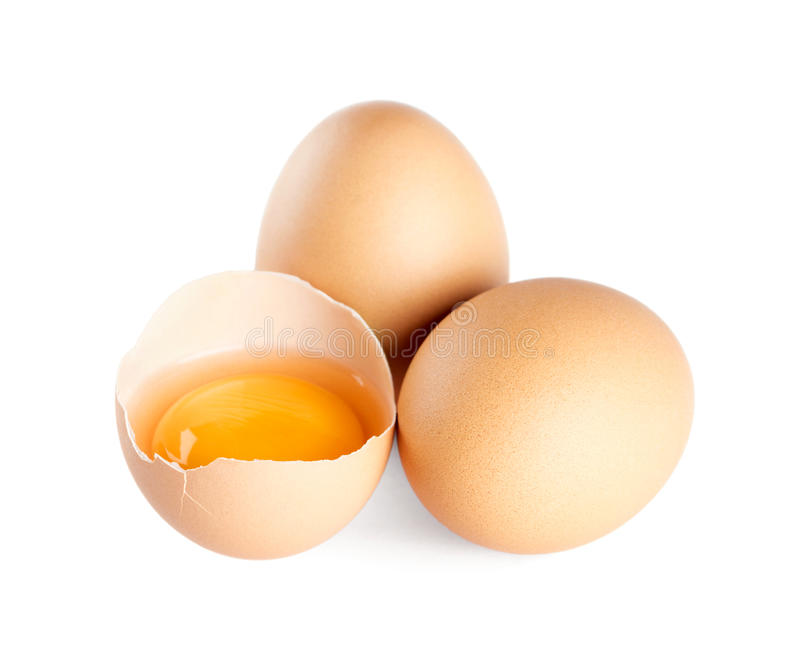 Broken eggs stock photo