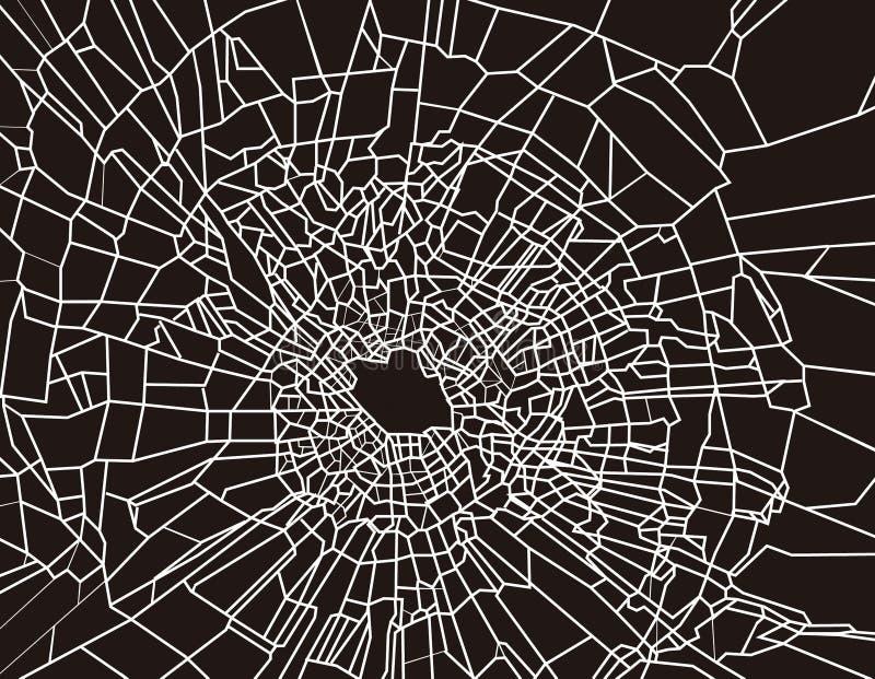 broken exponeringsglas stock illustrationer