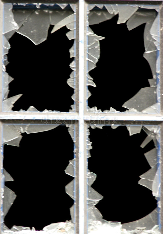 broken fönster royaltyfria bilder