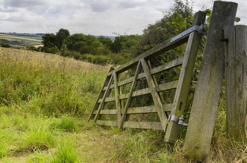 Broken Field Gate, Brubberdale, East Yorkshire royalty free stock photography