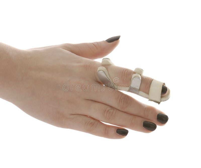 Broken finger stock images