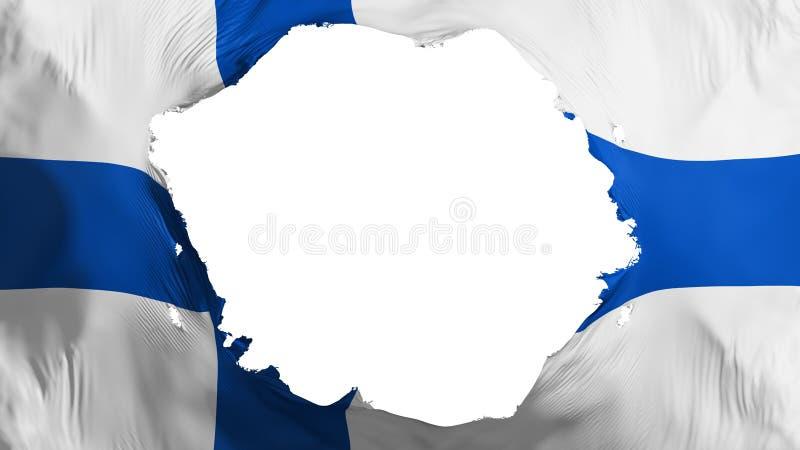 Broken Finland flag. White background, 3d rendering royalty free illustration