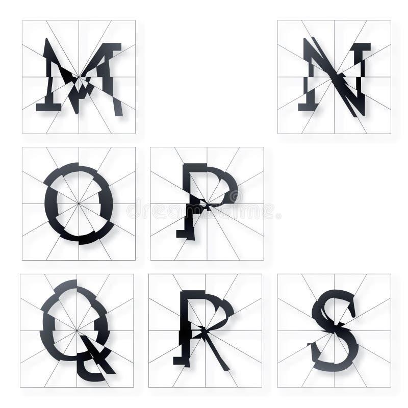 Broken Font royalty free illustration