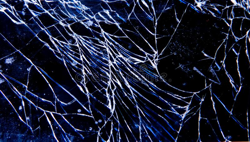 Broken fragile glass phone stock photography