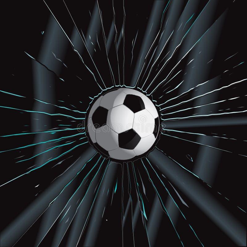 Free Broken Glass 2 Soccer Ball Royalty Free Stock Photo - 13591785