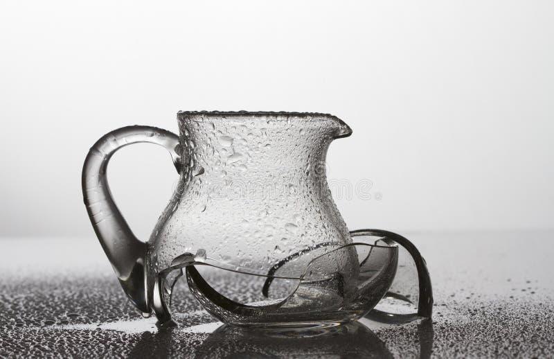 Broken glass. In white background stock photo