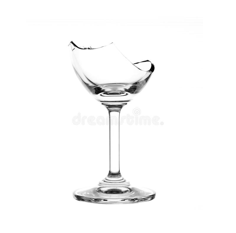 Broken glass. On white background royalty free stock photography