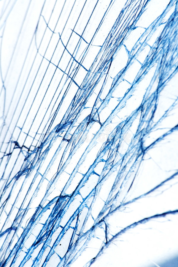 Broken glass. Fractured glass - grungy white background royalty free stock photos