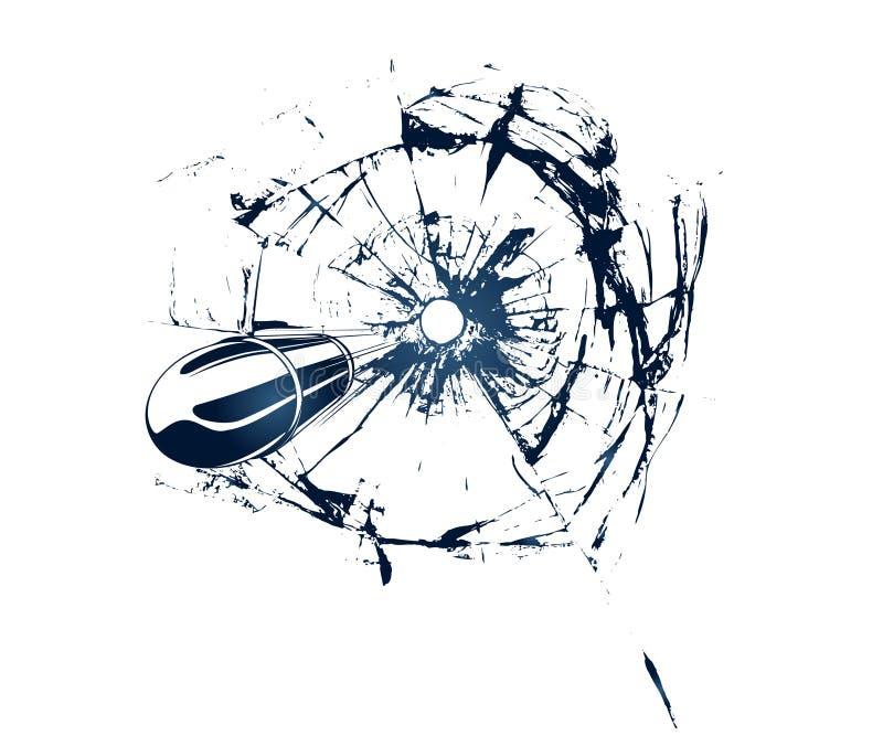 Broken Glass royalty free illustration