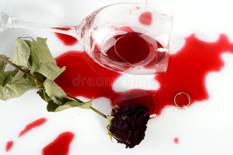 Broken glass after argument stock images