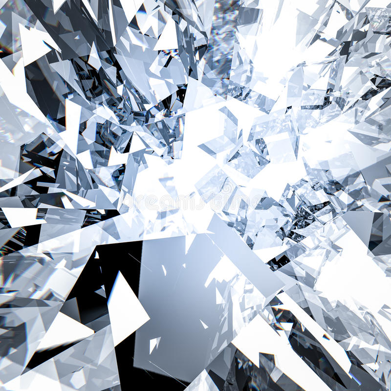Broken glass background stock image