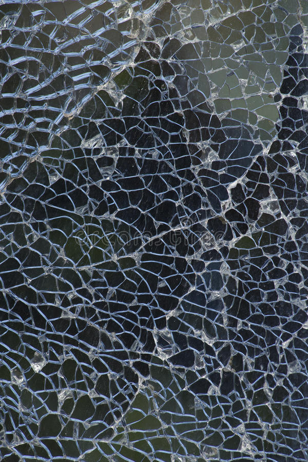 Broken glass crack. Abstract background stock photography