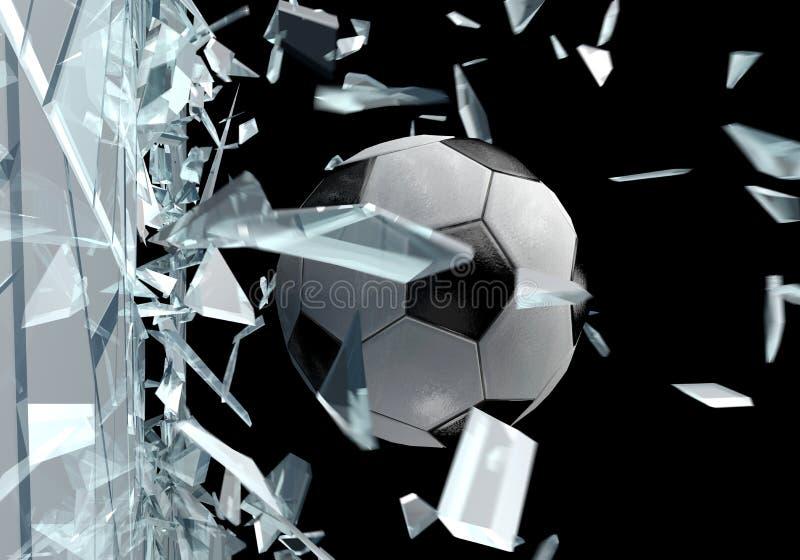 Broken glass 3d soccer ball 2 stock illustration for 3 dimensional drawing software