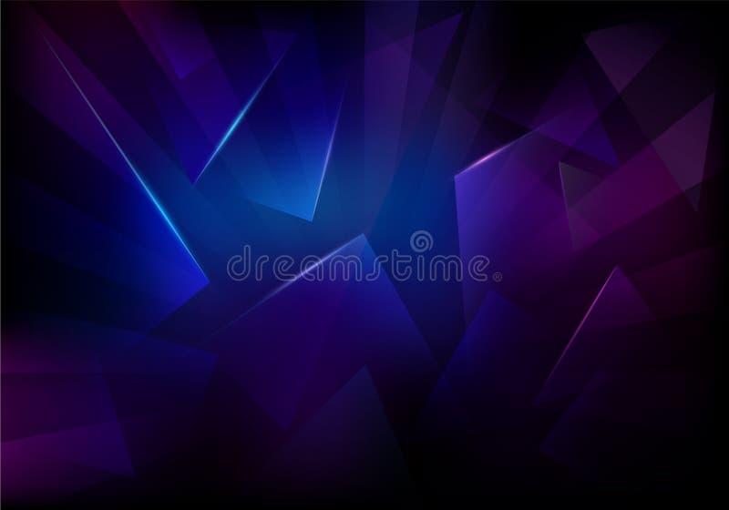 Broken Glass Dark Background. Frozen Sleek Texture royalty free illustration