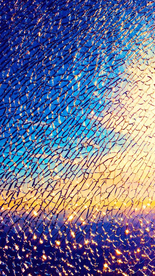 Broken glass of display for mobile screensaver stock photo - Mobile screen crack wallpaper ...