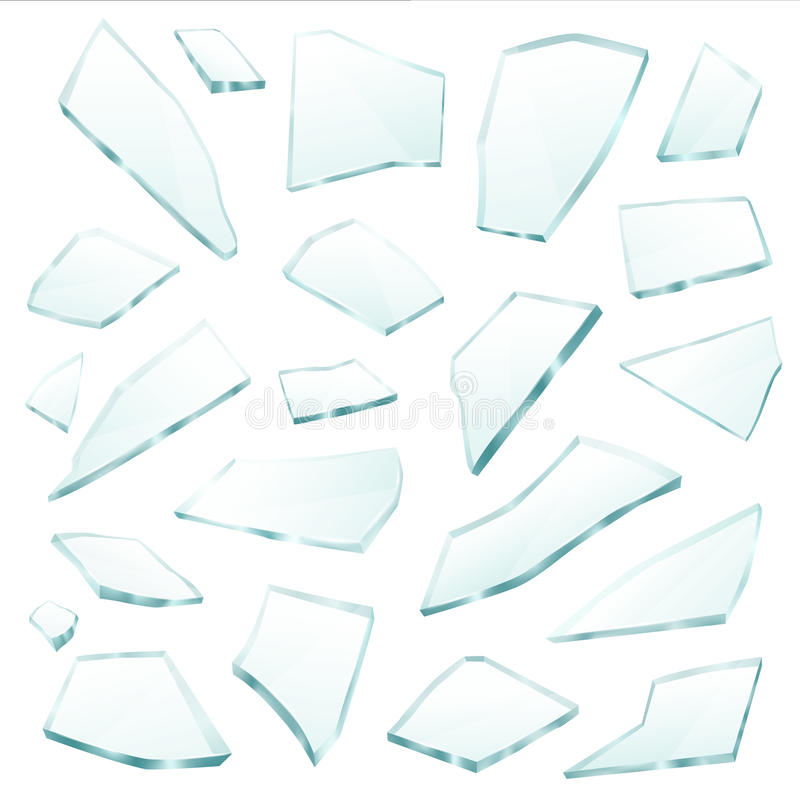 Free Broken Glass Fragments Shards Realistic Set Royalty Free Stock Photography - 93231077
