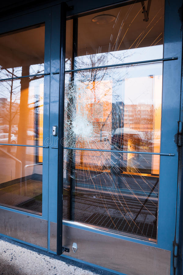 Incroyable Download Broken Glass Front Door Stock Photo. Image Of Destruction    60062252