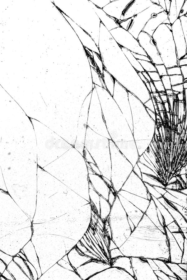 Broken glass texture, cracked in the glass. royalty free stock photos