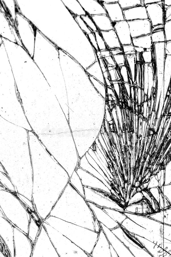 Broken glass texture, cracked in the glass stock photos