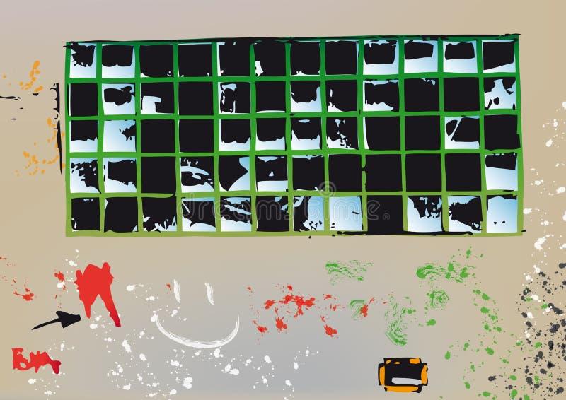 Download Broken glass (vector) stock vector. Image of form, destroyed - 9129424