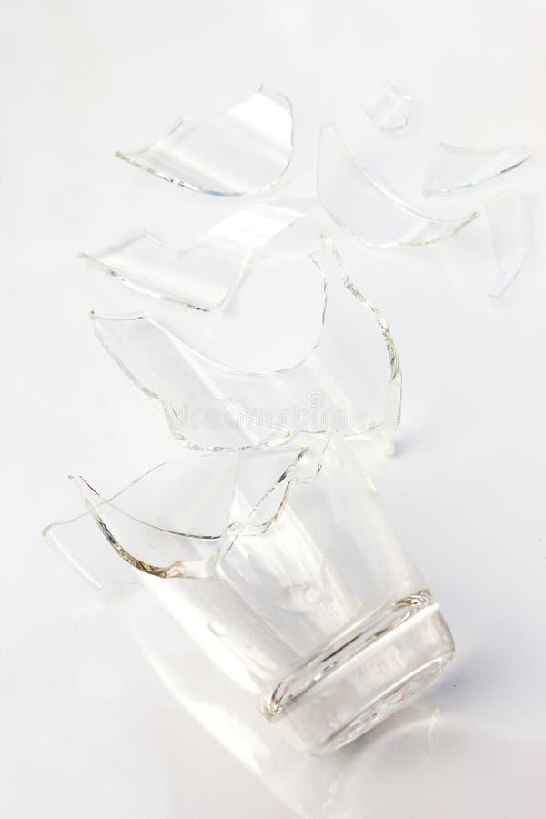 Broken glass. Broken glass on white background stock image