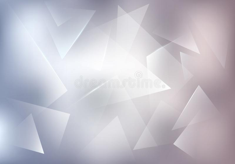 Broken Glass White Vector Background. Frozen Ice Texture. Abstract Bg for Dj Party Posters, Banners or Advertisements. Broken Glass White Vector Background stock illustration